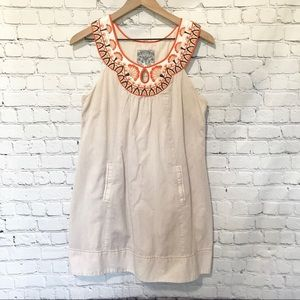 Floreat Embroidered Boho Sleeveless Dress Sz Small